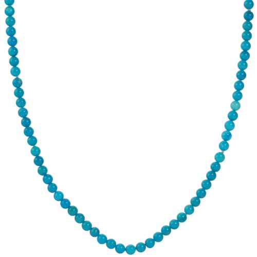 Endless Stabilized Turquoise 4mm Knotted Necklace, 50