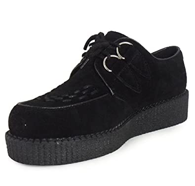 MENS BOYS LACE UP FAUX SUEDE PUNK GOTH HIGH PLATFORM FLAT WEDGE CREEPERS SHOES SIZES 9