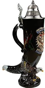 Beer Stein by King - Germany CoA Speciality Eagle Drinking Horn German Beer Stein (Beer Mug)