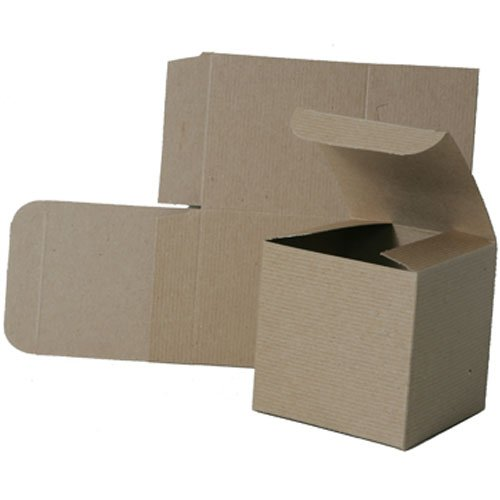 4x4x4 Open Lid Kraft Gift Boxes - Sold individually