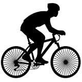 12 x Novelty Cycling Silhouette Edible Standup Wafer Paper Cake Toppers