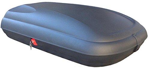 Dachbox VDP-BA320 schwarz Dachkoffer 320 Liter Autokoffer Carbon Look abschließbar