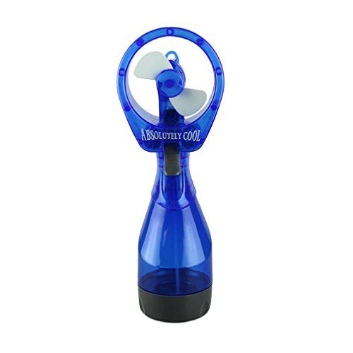 Voberry® Best Seller Creative Deluxe Battery Operated Ice Water Misting Fan Absolutely Cooooool! (Battery Not Included) (Blue)