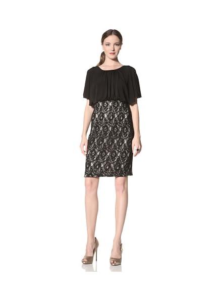 JS Boutique Women's Blouson Dress with Lace