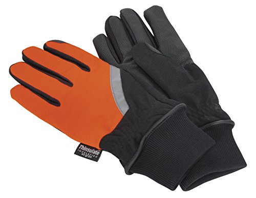 Sealey MG797L Mechanic's Gloves High Visibility PU Touch Thinsulate, Large