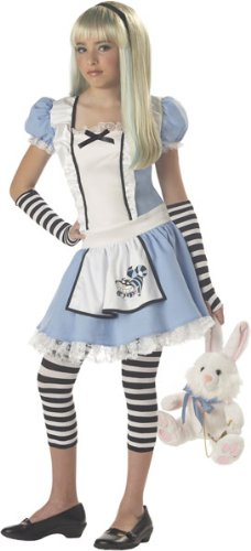 Teen Alice In Wonderland Costume - Dress, Gloves and Leggings