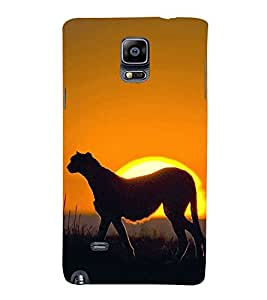 99Sublimation Cheetah in Sunset 3D Hard Polycarbonate Back Case Cover for Samsung Galaxy Note 4 :: N910G :: N910F N910K/N910L/N910S N910C N910FD N910FQ N910H N910G N910U N910W8