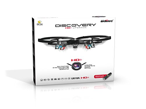Latest UDI 818A HD+ RC Quadcopter with HD Camera, Return Home Function