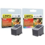 2 Compatible Printer Ink Cartridges for Canon Pixma Canon Pixma MX310 - Black+Tri-Colour- PG40 & C41