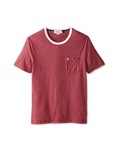 Original Penguin Men's Yarn Dye Stripe Crew Neck Shirt