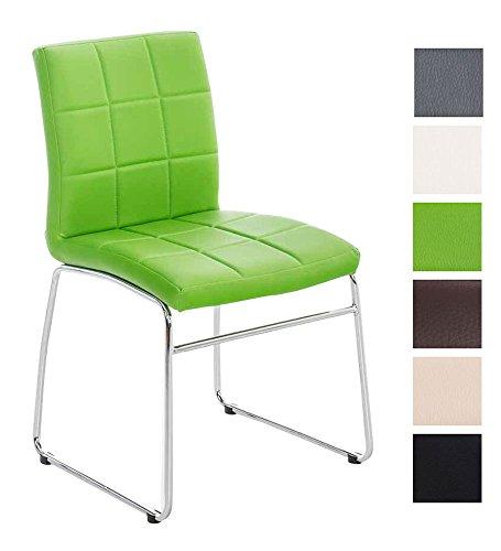 CLP-Kchen-Stuhl-Besucherstuhl-SARAH-gut-gepolsterte-Sitzflche-pflegeleichter-Bezug-grn