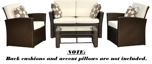 Del Mar Collection - 4pc Outdoor Wicker Patio