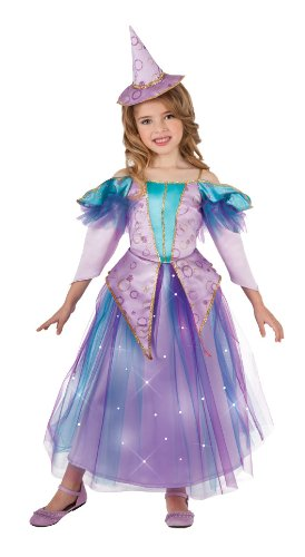 Lavender Light Up Glitter Witch Costume