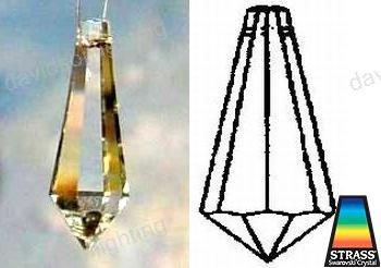 38mm Swarovski Strass U-Drop Crystal Prisms #8621-38