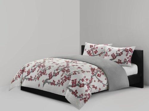 N Natori Cherry Blossom Mini Duvet Set Full Queen
