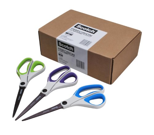 Scotch 8 Inch Precision Ultra Edge Scissors, 3-Pack (1458-3AMZ)
