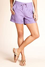Pure Linen Turn Up Hem Pull On Shorts [T54-4270-S]