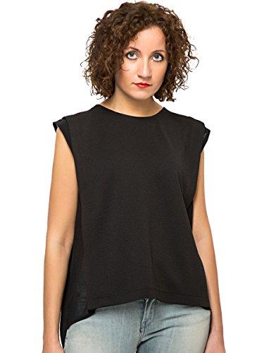 Silvian Heach -  T-shirt - Senza maniche  - Donna nero Medium