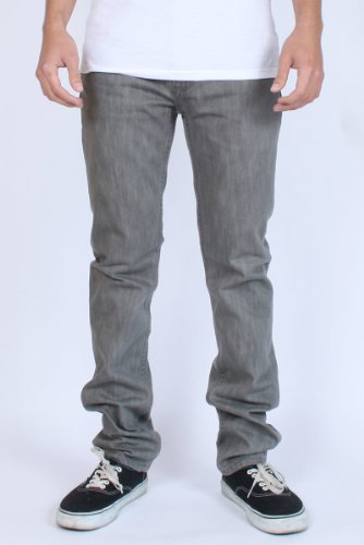 LRG - Core Collection Skinny Mens Jeans in Light Grey, Size: 34, Color: LightGrey