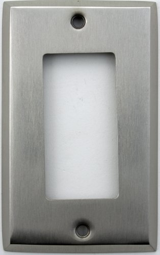 Classic Accents Stamped Steel Satin Nickel One Gang GFI/Rocker Opening Wall Plate