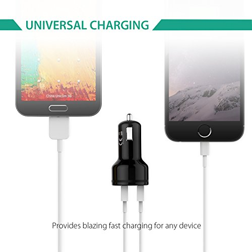 Aukey CC-T6 Quick Charge 2.0 (36W) Dual USB Car Charger