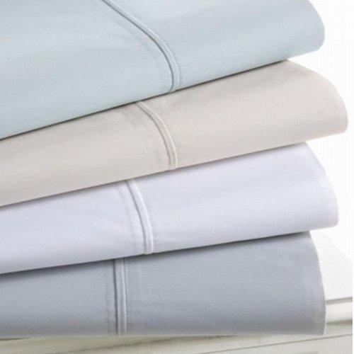 Martha Stewart Trousseau 300T Luxury Percale Standard Pillowcases Grey front-909017