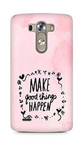 AMEZ make good things happen Back Cover For LG G3