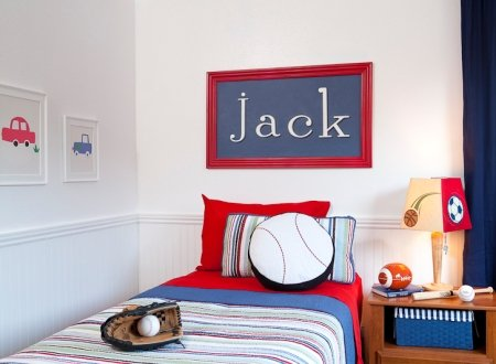 Wooden Wall Letter Hanging Initials Letter: A