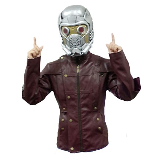 Smoon Cosplay Guardians of the Galaxy Star Lord Full Face Protection PVC Helmet Mask and Jacket Costume