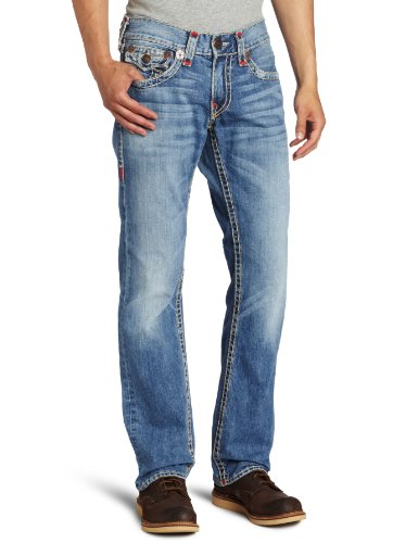 True Religion - Mens Ricky Straight Super T Denim Jeans In Conductor, Size: 30, Color: Conductor