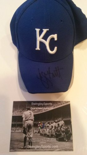 George Brett Signed Kansas City Royals Fitted Baseball Hat at Amazon.com