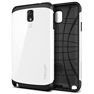 Galaxy Note 3 Case, Spigen Slim Armor Case for Galaxy Note 3 - Retail Packaging - Infinity White (SGP10459)