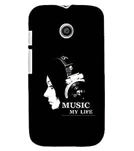 PRINTSHOPPII MUSIC Back Case Cover for Motorola Moto E XT1021::Motorola Moto E (1st Gen)