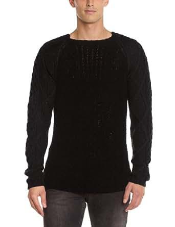 Gaspard yurkievich - pull - piqué - homme - noir (black) - l
