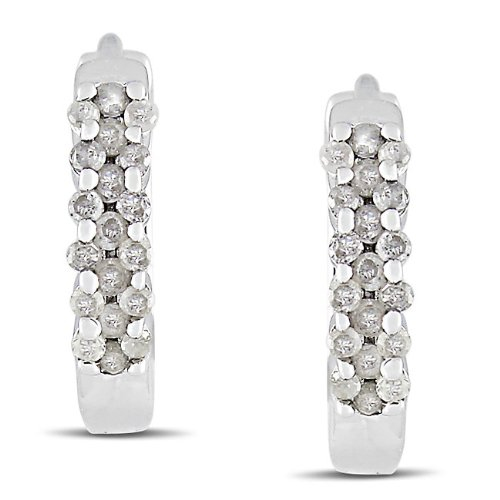 Sterling Silver 1/4 CT TDW Diamond Stud Earrings (H-I, I3)