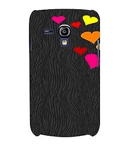 PrintVisa Love Hearts Design 3D Hard Polycarbonate Designer Back Case Cover for Samsung Galaxy S3 Mini
