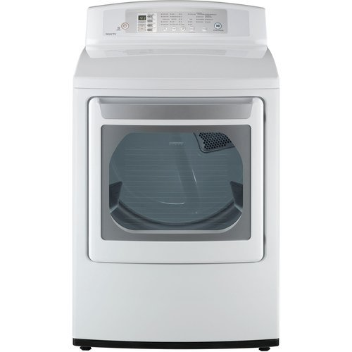 LG DLE4801 7.1 Cu. Ft. Large Capacity Electric Dryer with LED Display and Rear Controls, White