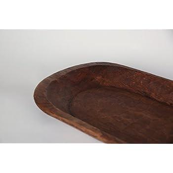 Rustic Wooden Dough Bowl-Batea