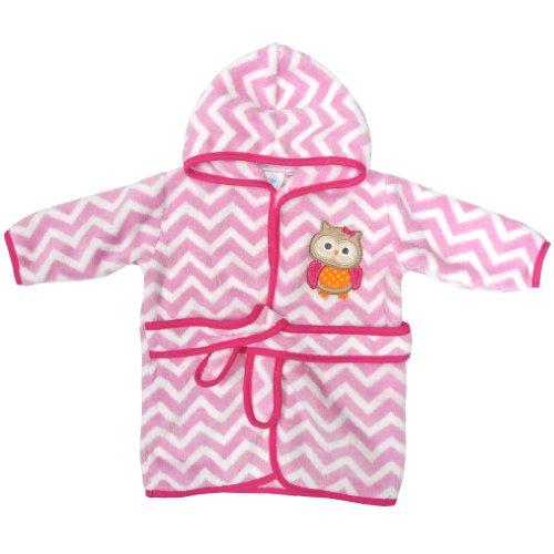 Neat Solutions Applique Print Coral Fleece Bath Robe, Owl front-993655