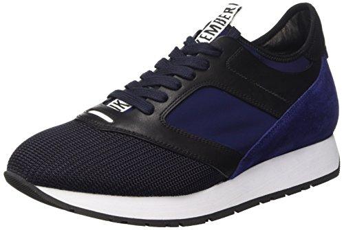 Bikkembergs Runn-Er 622 L.Shoe M Fab/Lycra/Suede, Scarpe Low-Top Uomo, Blu (Black/Blue), 42 EU