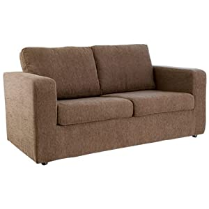 WorldStores Leigh Sofa Bed In Brown 2 Seater Sofa Bed