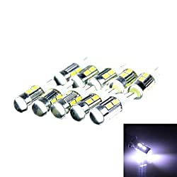 See T10 3W 144lm10 x SMD 5630 LED White Car Signal Light w/ Lens -(DC 12V / 10 PCS) , Pool Details