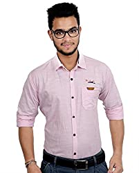 RED FOX Red Fox Men's Casual Pink Shirt