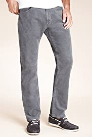 North Coast Cotton Rich Straight Leg Corduroy Trousers [T17-2242N-S]