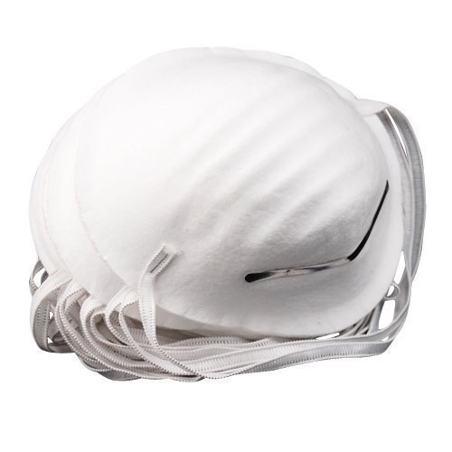 Accessotech 100 x Dust Mask Disposable Cleaning Molded Face Masks Respirator Safety Clean