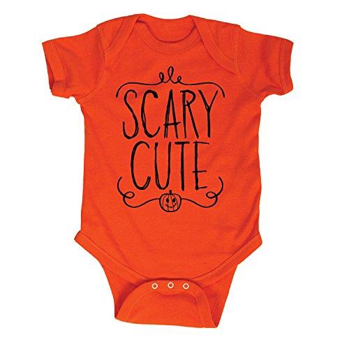[Scary Cute Infant One Piece Halloween Baby Bodysuit - 12 Months Orange] (Easy But Cute Halloween Treats)