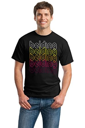 Buy Belding, MI Retro Vintage Style Michigan Unisex T-shirt by Ann Arbor T-shirt Company