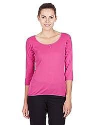 Jockey Women's Cotton Payjama Top (1325-0105-FURED_S)