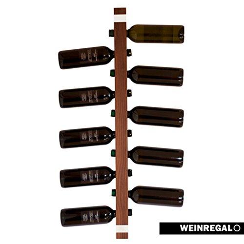 WEINREGALO-Nussbaum-Das-moderne-Design-Weinregal-Flaschenregal-aus-Holz-fr-Ihre-Wand-Flaschenregal-fr-11-Weinflaschen-100-x-5-x-5-cm-dekorativ-fr-Wohnzimmer-oder-Kche