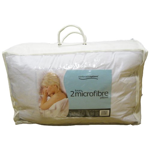 COMFORTABLE OPTIONS LUXURY MICROFIBRE PILLOWS - TWINPACK